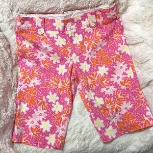 Lilly Pulitzer Floral Chipper Bermuda Shorts 8